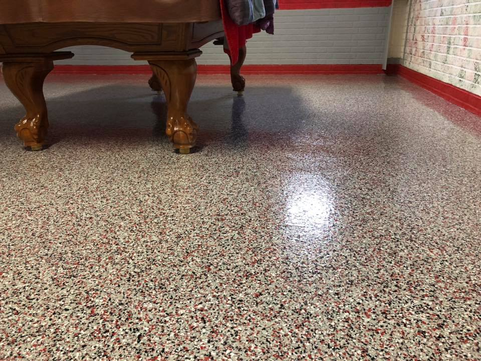 Epoxy Flake Flooring High Point Florida | GulfCoast Artistic Concrete